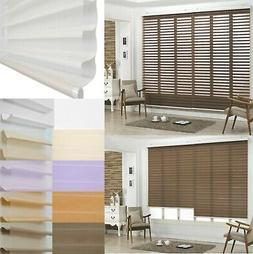 Window Blinds Sheer Triple Layered Roll-Up Shade Custom Made