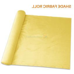 Yellow 6'-8' ft Tall Sun Shade Fabric Roll Fence Windscreen