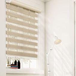 Chicology Zebra Free-Stop Cordless Roller Shade, Sheer or Pr